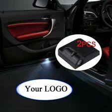 2PCS Custom Your Logo Wireless Laser Projector Car Door Shadow Welcome Lights