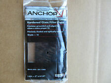 "(3) Anchor FS-1H-10 Hardened Glass Filter Plates 2"" X 4-1/4"" Shade 10 NEW!!!"