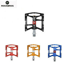 ROCKBROS MTB Bike Aluminum Alloy Pedal Cycling Sealed 4 Bearing Pedals USA Stock