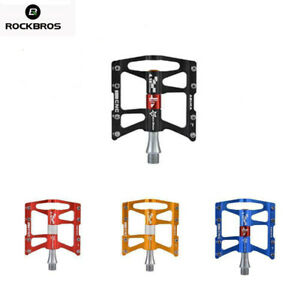 ROCKBROS MTB Bicycle Pedals Cycling Ultralight Aluminium Alloy 4 Bearings Pedals