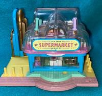Polly Pocket Supermarket COMPLETE with Groceries Bluebird Vintage