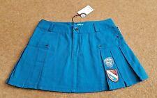 BEN SHERMAN Petrol Blue Mini Skirt Badges Pleated Size Small