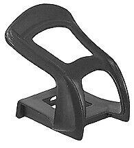 Wellgo Strapless toe clips, black pair w/ hardware