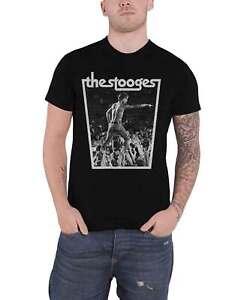 Iggy Pop & The Stooges T Shirt Crowdwalk Logo new Official Mens Black