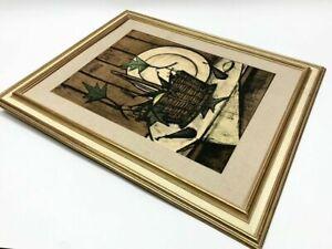 Bernard Buffet Framed Print Mid-Century Modern Art 1957