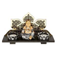 meditating spiritual Happy Fat Buddha double Tealight Holder candle spiritual