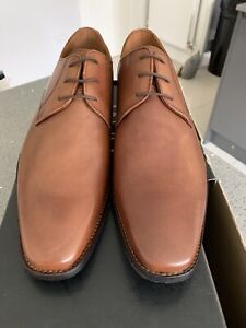 Next Tan Square Toe Leather Derby Shoes Size 11 Mens New