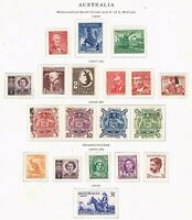 Australia - 1947-49 - 7 Set Collection - SC 207-223 [SG 219/232] MINT/USED 21