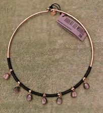 ROBERT LEE MORRIS Soho NWT $75. Stone & Leather Teardrop Collar Necklace