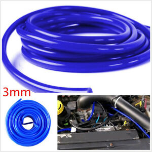 DIY 5M/16.4ft Blue 3mm Car Silicone Vacuum Tube Hose Soft Tubing Pipe Universal