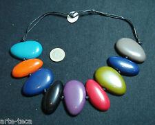 collana 9 ciottoli colorati bigiotteria affare regalo girocollo elegante
