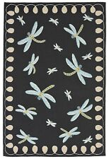 "Area Rug - ""Dancing Dragonflies"" Indoor Outdoor Rug - 5' x 7'6"" - Dragonfly Rug"