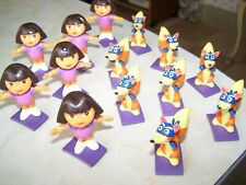 lot of 14 Dora & Swiper figures cake toppers