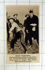 1920 Blinded Ex-soldiers Being Trained In Sense Of Direction Thrown Balls