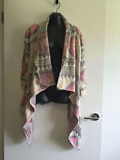 * BNWOT - Pastel Coloured Assymmetrical Drape Front Jacket - Size 8