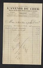 """SAINT-AMAND-MONTROND (18) PRESSE / IMPRIMERIE JOURNAL """"L'AVENIR DU CHER"""" en 1898"""