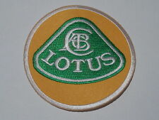 MOTORSPORTS RACING CAR SEW ON / IRON ON PATCH:- LOTUS YELLOW & GREEN DISC