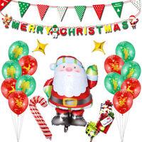 Fj- Am _ Moda Babbo Natale Caramelle Canna Lamina Palloncino Banner Festa di
