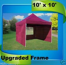 10'x10' Pop Up Canopy Party Tent EZ - Maroon - F Model Upgraded Frame