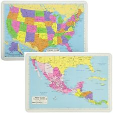 Painless Learning Educational Placemats Sets USA And Mexico/Central America Maps