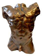 Rodin Male Nude Torso Desktop Statue Massive Muscles Bodybuilder 6H