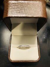 Eternity Band 1 Ct 100% Natural Diamond Wedding Ring 14K White Gold Size 4.5