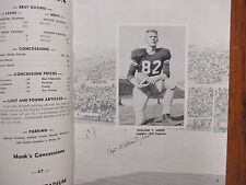 1960  Lehigh  Football Game Program(34 Signed/w/BILL  LECKONBY/WILLIAM T. JONES)