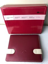 CREATIVE MEMORIES  PICFOLIO MINUTES ALBUM RED AND BEIGE 24 PAGES 4 X 6 NIB
