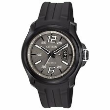 Citizen Eco-Drive Men's AW1354-15H HTM Charcoal Grey Dial Black Poly Strap Watch