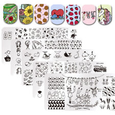 Nail Stamping Plates Animals Plant Ocean Farm Manicure Nail Art Image Templates