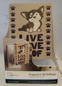 """Fragrance Oil Diffuser Plug in """"Live Love Woof"""" Dog Puppy"""