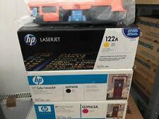 Conjunto Completo Geniune HP Q3960A, Q3961A, Q3962A, Q3963A (122 a) Cartucho de tóner HP 2550