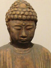 21 inch concrete meditating buddha statue yard art