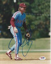 MIKE SCHMIDT (Philadelphia Phillies) Signed Fielding 8x10 PHOTO w/ PSA COA