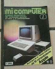 Rare Vintage 80's Apple Mi Computer Spanish Mexico Steve Jobs Magazine