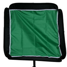 "60cm 24"" Softbox Backdrops Backgroud Cloth Diffuser for Flash Speedlight Green"