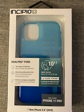 "Incipio DualPro Pure Iphone 11 Pro- 5.8"" Turquoise / Blue OMBRE 10ft drop case"