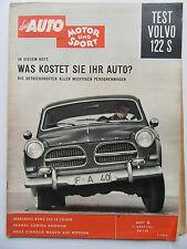 Auto Motor Sport 6/1961, Test: Volvo 122 S, Mercedes Benz 220 SE Coupe