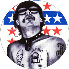CHAPA/BADGE GG ALLIN . pin button punk anti seen murder junkies dead boys poison