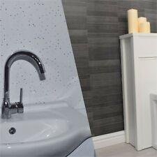 12 X White Diamond/Grey Small Tile Effect Wall Cladding Bathroom Panels PVC