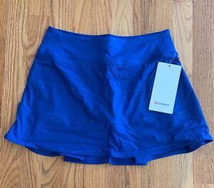 "NWT Lululemon Pace Rival Mid Rise Skirt Long 15"" size 6 Symphony Blue SYMB"