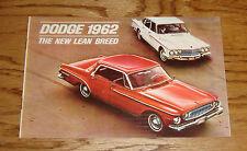 Original 1962 Dodge Dart & Lancer Sales Brochure 62