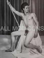 VTG 4 x 5 PHOTO PRINT MALE NUDE GAY INTEREST BEEFCAKE MUSCLE PHYSIQUE TATTOO 95