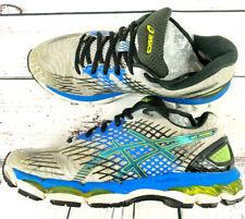 Asics GEL-NIMBUS 17 Men's Size 8 Running Shoes T507N Lightning Black Blue