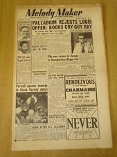 MELODY MAKER 1952 JUNE 21 LONDON PALLADIUM JACK PARNELL NFJO WEAVERS ELLINGTON