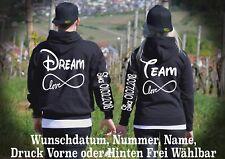 Hoodie Pullover Dream Team Motiv Partner Look Geschenk Viele Farben XS - 5XL New