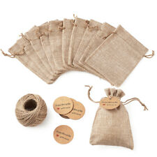 30pcs Linen Wedding Favors Burlap Gift Pouches Jute Jewelry Bags Drawstring Bags