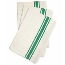 Aunt Martha's Retro Bold Stripe Kelly Green Kitchen Dish Tea Towels Set of 3