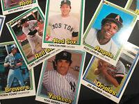 1981 Donruss Baseball lot of 12 Stars From The 80's - Yount/Berra/Palmer... Etc