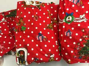 Pottery Barn Teen The Grinch™ Festive Flannel Sheet Set Queen NEW